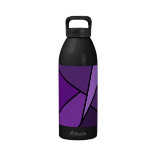 Abstract Purple Polygons Reusable Water Bottle