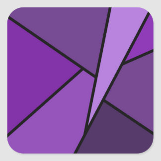 Abstract Purple Polygons Stickers