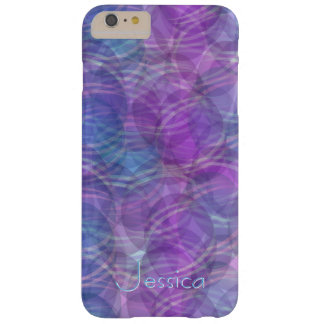 Abstract purple PUR-polarizes pattern Design phone Barely There iPhone 6 Plus Case