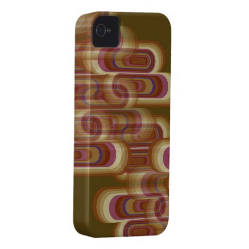 Abstract Purple Retro Pods Glow iPhone 4 CaseMate iPhone 4 Cases