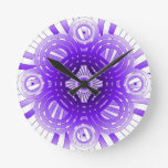 Abstract Purple Round Clock