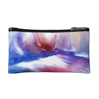 Abstract Purple Shore Bagette Makeup Bags