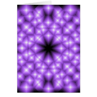 Abstract Purple Star field Card