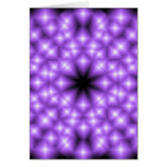 Abstract Purple Star field Greeting Card
