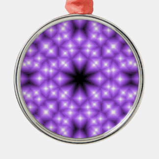 Abstract Purple Star field Metal Ornament