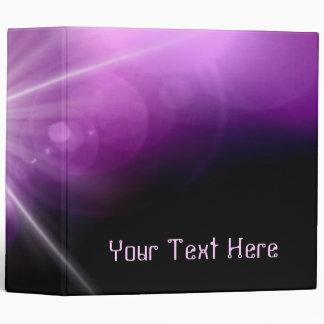 Abstract Purple StarLight 2 Binder