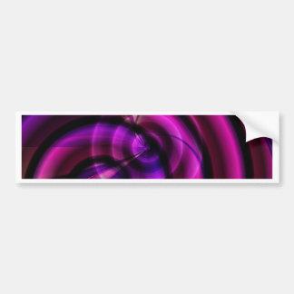 Abstract purple swirl by Tutti Bumper Sticker