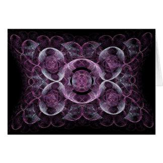 Abstract Purple Swirls Fractal Art Design Gifts Card