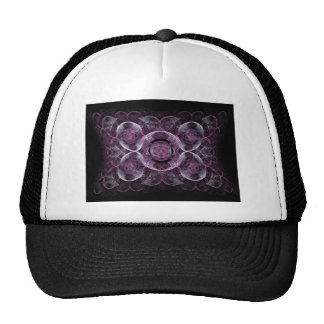 Abstract Purple Swirls Fractal Art Design Gifts Trucker Hat