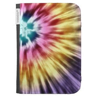 Abstract Purple Tie Dye Kindle Keyboard Cases