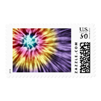 Abstract Purple Tie Dye Postage