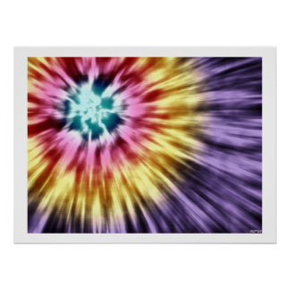 Abstract Purple Tie Dye Poster