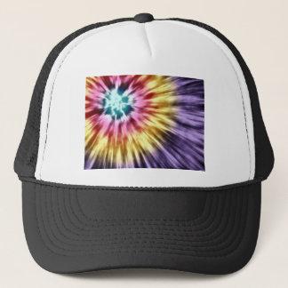 Abstract Purple Tie Dye Trucker Hat