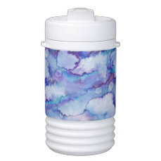 Abstract Purple Watercolor Beverage Cooler