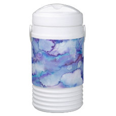 Abstract Purple Watercolor Cooler
