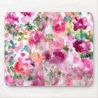 Abstract Purple Watercolor Floral Background Mouse Pad