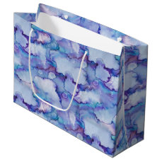Abstract Purple Watercolor Large Gift Bag
