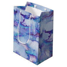 Abstract Purple Watercolor Medium Gift Bag