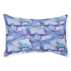 Abstract Purple Watercolor Pet Bed