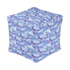 Abstract Purple Watercolor Pouf