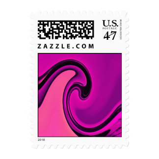Abstract Purple Wave Postage