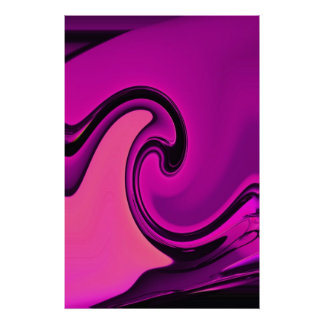 Abstract Purple Wave Poster