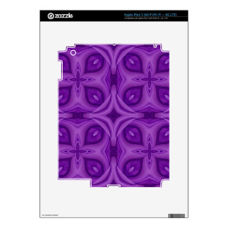 Abstract Purple Wood Pattern Decal For iPad 3