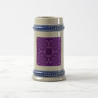 Abstract Purple Wood Pattern Coffee Mugs