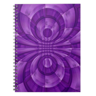 Abstract Purple Wood Pattern Notebook