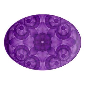 Abstract Purple Wood Pattern Porcelain Serving Platter