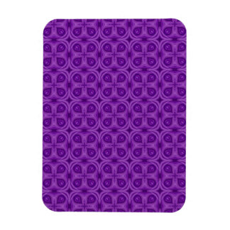 Abstract Purple Wood Pattern Rectangular Photo Magnet