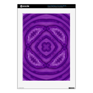 Abstract Purple Wood Pattern PS3 Decals