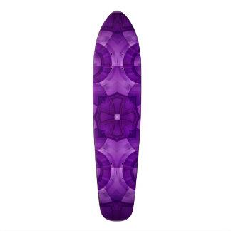 Abstract Purple Wood Pattern Skateboard Decks