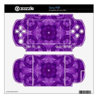 Abstract Purple Wood Pattern Skins For Sony PSP