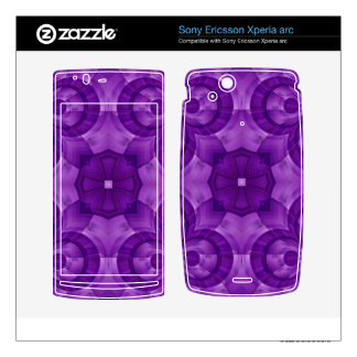 Abstract Purple Wood Pattern Xperia Arc Skins