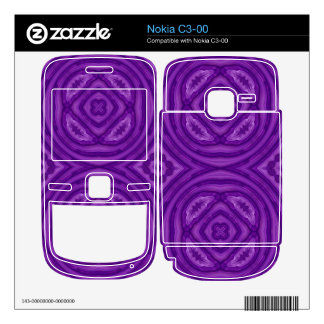Abstract Purple Wood Pattern Decal For Nokia C3-00