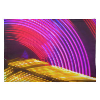 Abstract Purple Yellow Red and Green Lights Cloth Placemat
