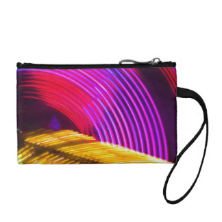 Abstract Purple Yellow Red and Green Lights Coin Purse