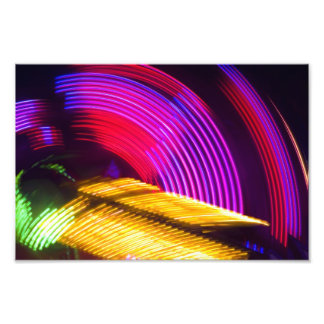 Abstract Purple Yellow Red and Green Lights Photo