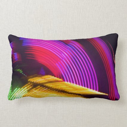 Abstract Purple Yellow Red and Green Lights Throw Pillows