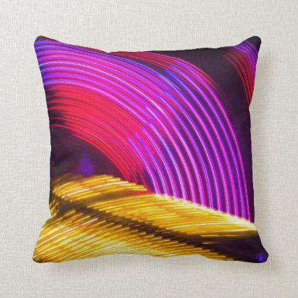 Abstract Purple Yellow Red and Green Lights Pillows