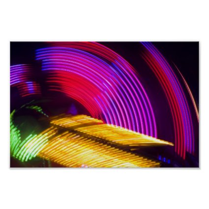 Abstract Purple Yellow Red and Green Lights Poster