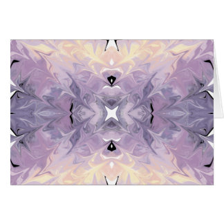 Abstract Purple Yellow Trendy Marble Watercolor Card