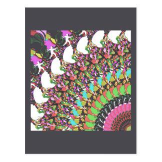 Abstract Putter Design Postcard