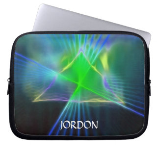 Abstract Pyramid and Energy Power Computer Sleeve