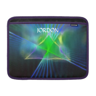 Abstract Pyramid and Energy Power MacBook Sleeve