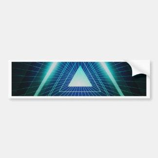 Abstract pyramid triangle bumper sticker