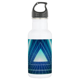 Abstract pyramid triangle water bottle