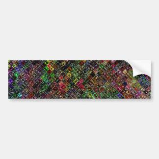 Abstract Quilt Car Bumper Sticker