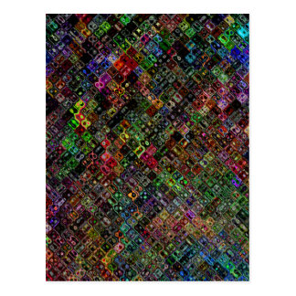 Abstract Quilt Postcard